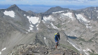Ascending the West Ridge to Crazy Peak